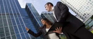 http://www.dreamstime.com/stock-image-businessman-businesswoman-city-image10649671